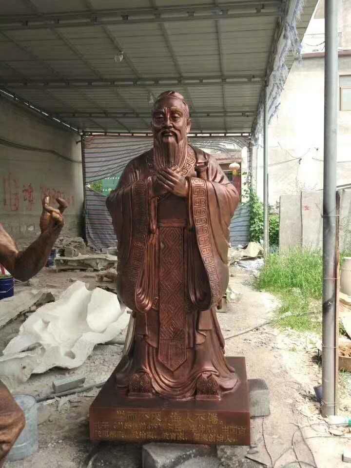 孔子雕像(万博max下载材质也可以铸铜工艺)